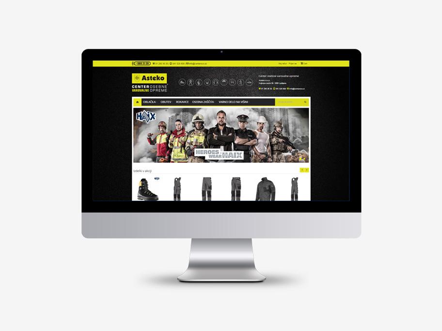 Asteko – spletno mesto